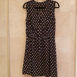 WOMEN'S H&M BLACK AND WHITE POLKA DOT SUN DRESS